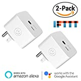 AvatarControls Mini Smart Plug,Wifi Wireless Socket Home Electrical Timing Outlet,Remote Control On/Off Power Switch via APP, No Hub Required,Compatible with Amazon Alexa/Google Assistant (2-Pack)