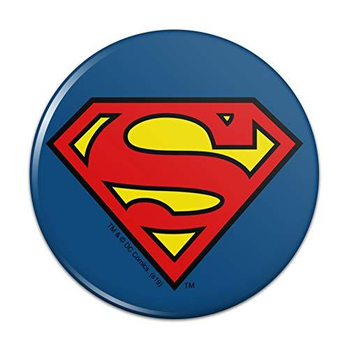 (Superman Classic S Shield Logo Pinback Button Pin Badge - 2.25