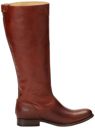 Smooth Zip Frye Wide Boot Button Leather Calf Women's Vintage Back Melissa Cognac x0wrSnz0Iq