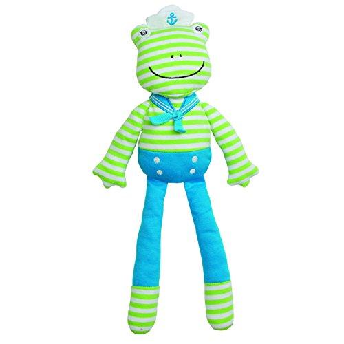 Organic Frog Rattle (Organic Farm Buddies Plush Toy - Skippy Frog, 14 inches)