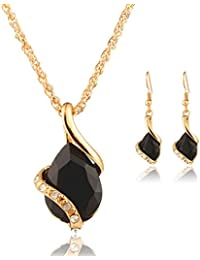 Deals Necklace+Earrings Jewelry Set Womens Bohemia Chain...