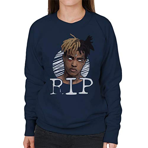 White White Eyes Eyes Eyes Sweatshirt Women's Navy out RIP Coto7 Xxxtentacion Blue wBxqE1qz