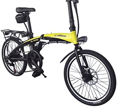 Helliot Bikes by Helliot 01 Bicicleta Eléctrica Plegable, Adultos Unisex, Amarillo/Negro, M-L: Amazon.es: Deportes y aire libre