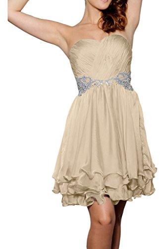 scollo da breve Fest vestito Champagne ivyd elegante partito abito sera Sweetheart abito ressing abito pietre Donna Prom cuore del a twTBFq