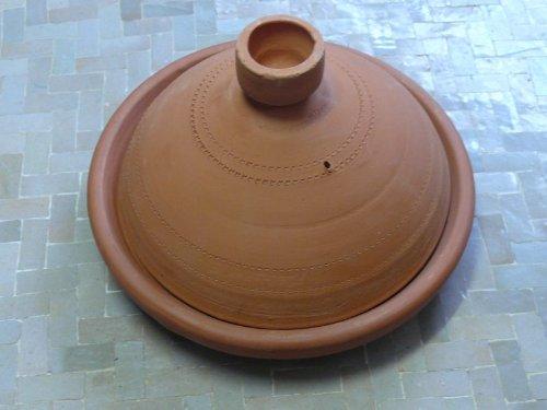 marokkanische unglasierte Tajine aus Ton