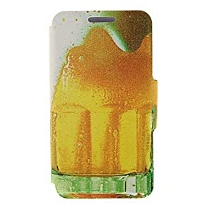 SHOUJIKE Kinston Beer Bubble Pattern PU Leather Full Body Case with Stand for iPhone 5C