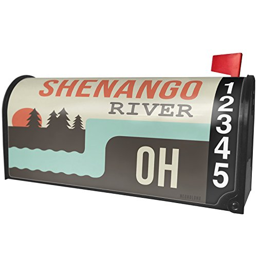 NEONBLOND USA Rivers Shenango River - Ohio Magnetic Mailbox Cover Custom Numbers