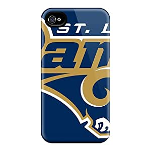 Iphone 4/4s CYm5493WOMk Allow Personal Design Nice St. Louis Rams Pictures Bumper Hard Phone Cover -KaraPerron