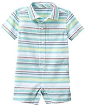 baby boys stripe one piece Romper