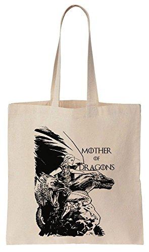 Mother Of Dragons Drawing Sacchetto di cotone tela di canapa