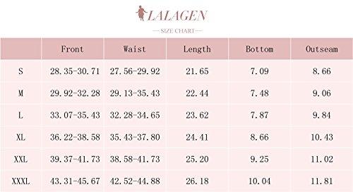Lalagen Womens Plus Size Racerback Tankini Set Two Piece Swimsuit Boyshort Blue XXXL by Lalagen (Image #4)
