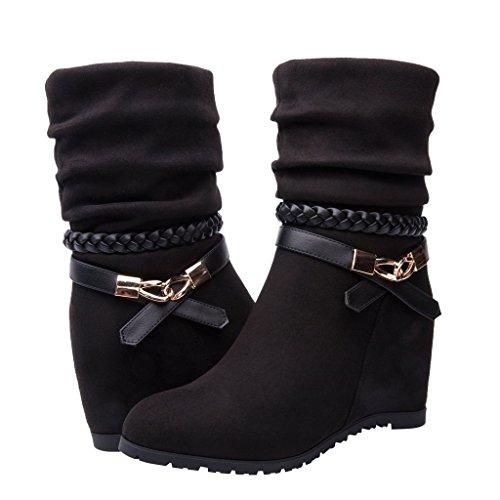 Women's KadiMayaOS05-1 Boots 7.5M,Black by Global Win