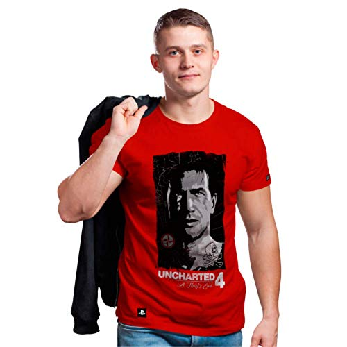 Camiseta Drake Face, Banana Geek, Adulto Unissex, Vermelho, G