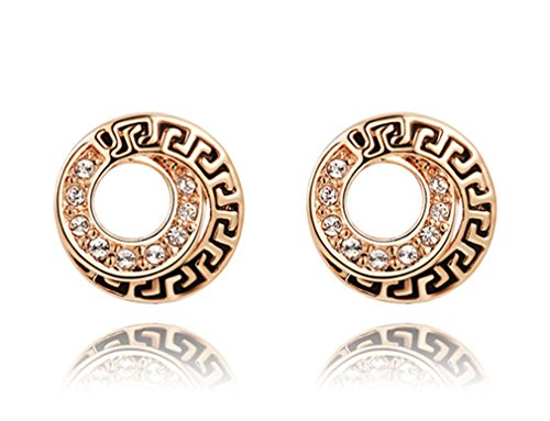 - Austrian Crystal Rose Gold Earrings Style Restoring Ancient Ways
