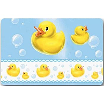 Beau Yellow Rubber Duck Large Doormat Neoprene Backing Non Slip Outdoor Indoor  Bathroom Kitchen Decor Rug Mat
