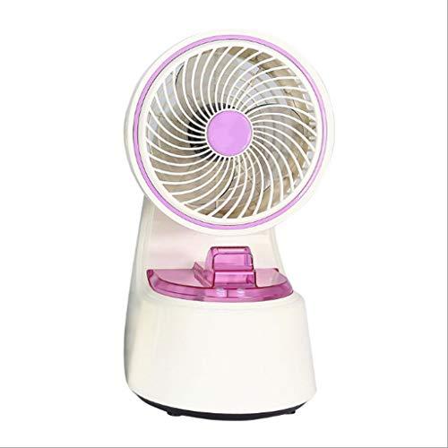 Fan 6.5-inch Two-Speed Portable Spray Humidifier Mini Fan, Small Water-Cooled Office Silent Desktop Fan Air Cooler (Color : Purple)