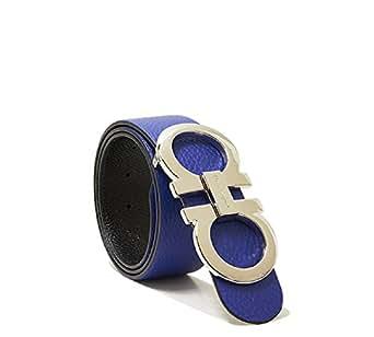 Amazon.com: Salvatore Ferragamo Black/Blue Reversible Big ...
