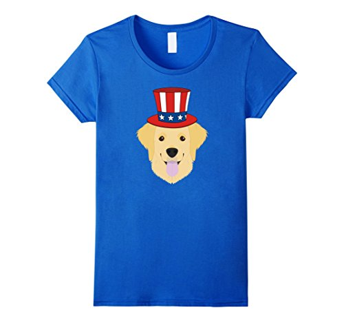 Women's The 4th of July Patriotic Golden Retriever  Dog l...