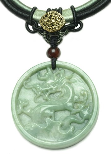 on Green Jade Amulet Necklace - Fortune Feng Shui Imperial Jade Collection (Imperial Jade Jewelry)