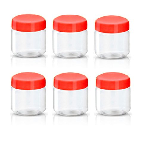 Sunpet plástico alimentos recipiente de almacenamiento, plástico, Rojo, 100 ml, paquete de