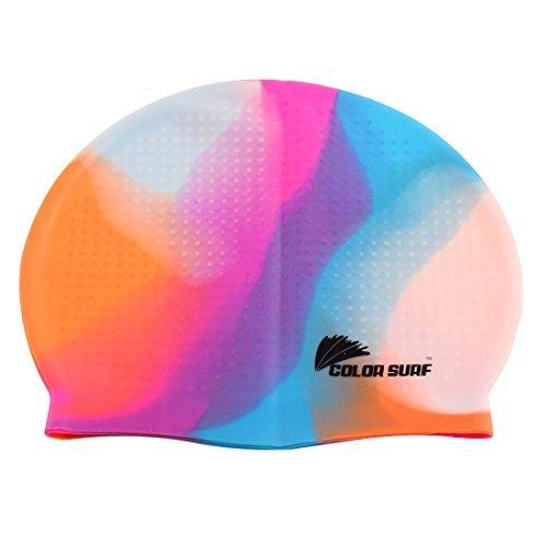 Silicone Adulte Particle Swim Natation Surf Cap Hat Multicolor