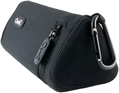[Official] OontZ Angle 3 Plus Bluetooth Portable Speaker Carry Case, Neoprene with Aluminum Carabiner, reinforced zipper, by Cambridge SoundWorks [NOT FOR OontZ Angle 3]