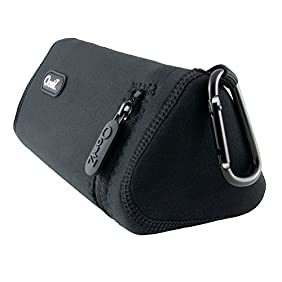 Cambridge SoundWorks Official OontZ Angle 3 Plus Bluetooth Speaker Carry Case, Neoprene with Aluminum Carabiner, reinforced zipper [NOT FOR OontZ Angle 3]