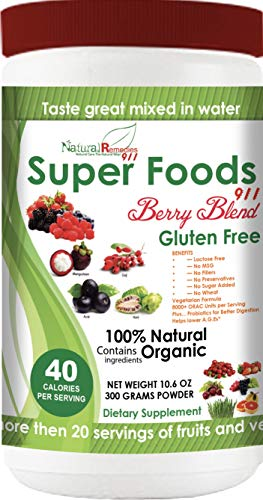NR911 Superfoods 911 Berry Blend - Noni, Mangosteen, Goji, Acai, Pomegranate blended with numerous ORGANIC fruits, vegetables and herbs that doctors and experts recommend daily for optimum health! -