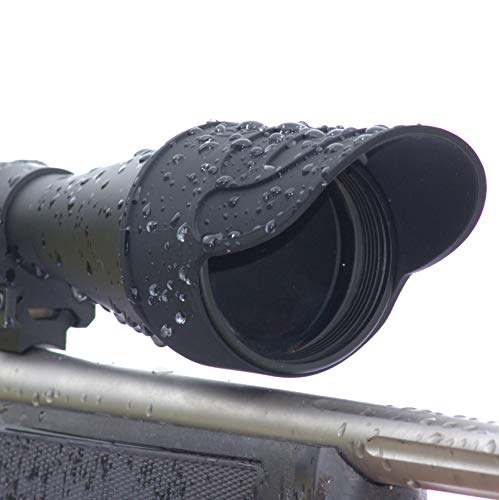 DOWN UNDER OUTDOORS Silicone Rubber Rifle Scope Binocular Cover, Sunshade, Rain Cap, Eye Piece, Objective Lens, Spotting Optics, Universal Tactical Flip Up Protector 40mm 44mm 50mm 56mm 69mm (Small)