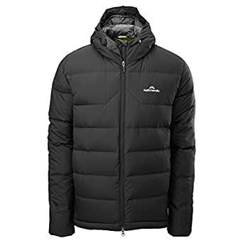 Kathmandu Epiq Men's Hooded Warm Winter Duck Down Puffer Jacket v2 Black L