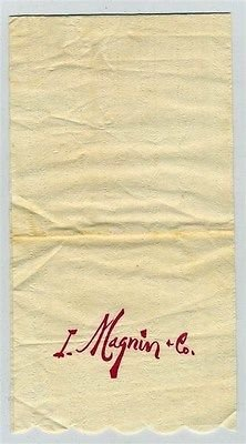 I Magnin Department Store Napkin San Francisco California for sale  Delivered anywhere in USA
