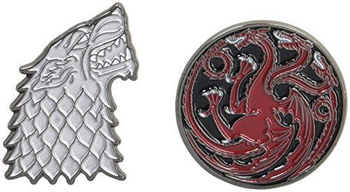 Game of Thrones Twin Pins: Stark and Targaryen Sigils: Two Enamel Pins