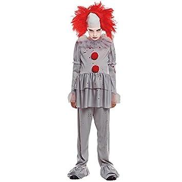 Disfraz Payaso Sádico Gris Niño (5-6 años) Halloween (+ Tallas)