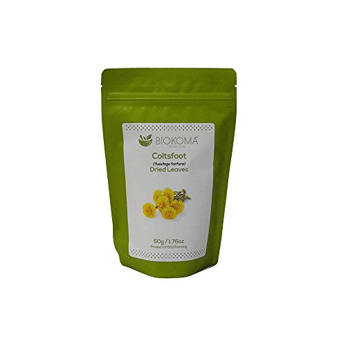 - 100% Pure and Natural Biokoma Coltsfoot Dried Leaves 50g (1.76oz) in Resealable Moisture Proof Pouch
