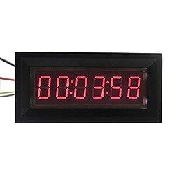 0.36 RED LED Digital Timer Totalizer Hour Chronometer industrial 12V DC Meter Panel clock Display 99:59:59