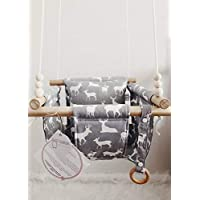 Indoor/Outdoor Deer Fabric Baby Swing