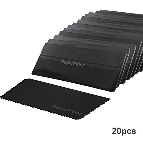LS Photography 20 pcs x Black SuperFiber Camera Lens Cleaning Cloth, LGG176 by LS Photography