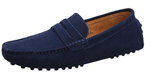 Profundo Mocasines Azul calzado Mocasines plano hombre Yaer para Zapatos hombre Bv4zzSp
