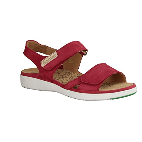 Ganter 200122-4012 - Sandalias de vestir de Piel para mujer rojo rojo Rojo