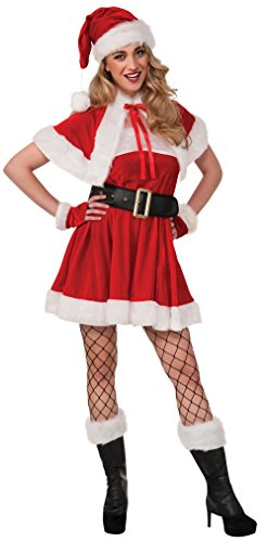 Rubie's Women's Santa's Sexy Helper Dress, Red/White, Medium ()