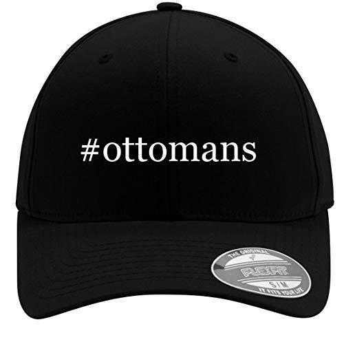 #Ottomans - Adult Men's Hashtag Flexfit Baseball Hat Cap, Black, Small/Medium