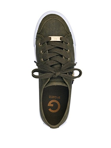 G Per Guess Dames Baylee Geperforeerde Sneakers Donkergroen