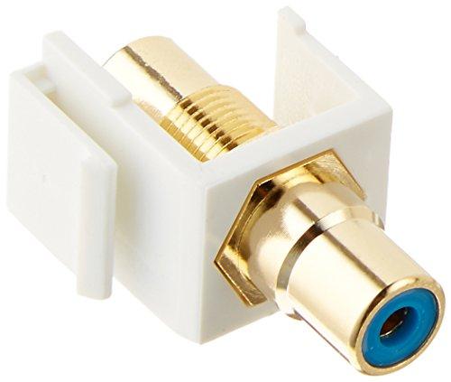 Monoprice 106545 Keystone Jack-Modular RCA with Blue Center, White (Monoprice Center compare prices)