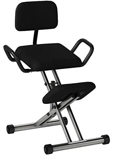 Flash Furniture Ergonomic Kneeling Chair with Back and Handl