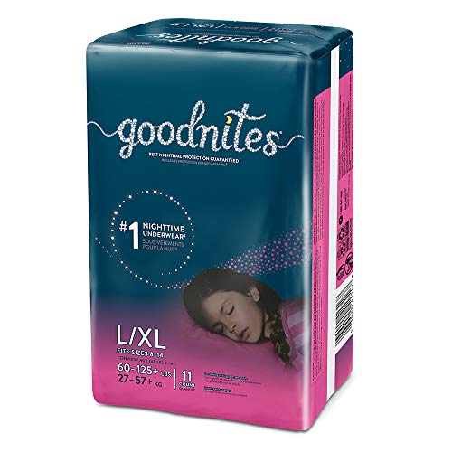 Goodnites, Girls Bedwetting Underwear, L/XL, 11 Ct