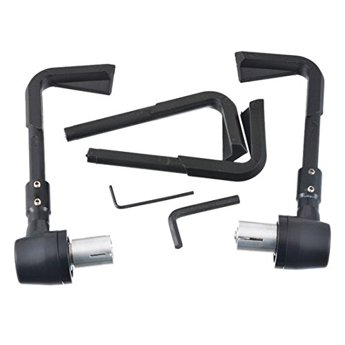 Price comparison product image Sepbear Motorcycle Racing CNC Front brake clutch Lever Guards Protector Proguard System Handlebar Brush (black)