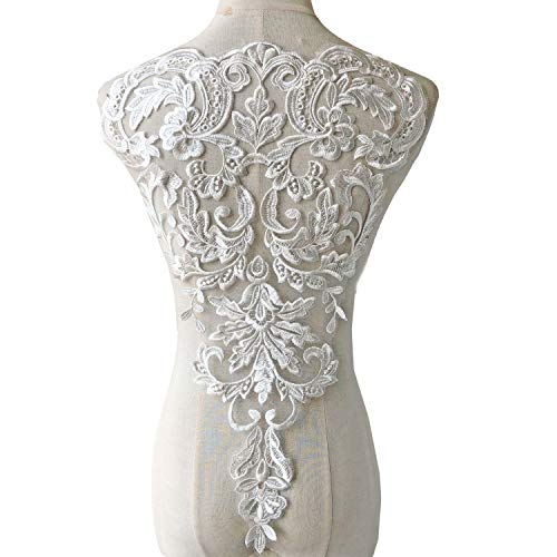 Lace Dress Venice - Vintage Venice Lace Applique Fine Embroidery Off-White Flower Lace Patch Sewing Addition for Ballgown Wedding Dresses Gown