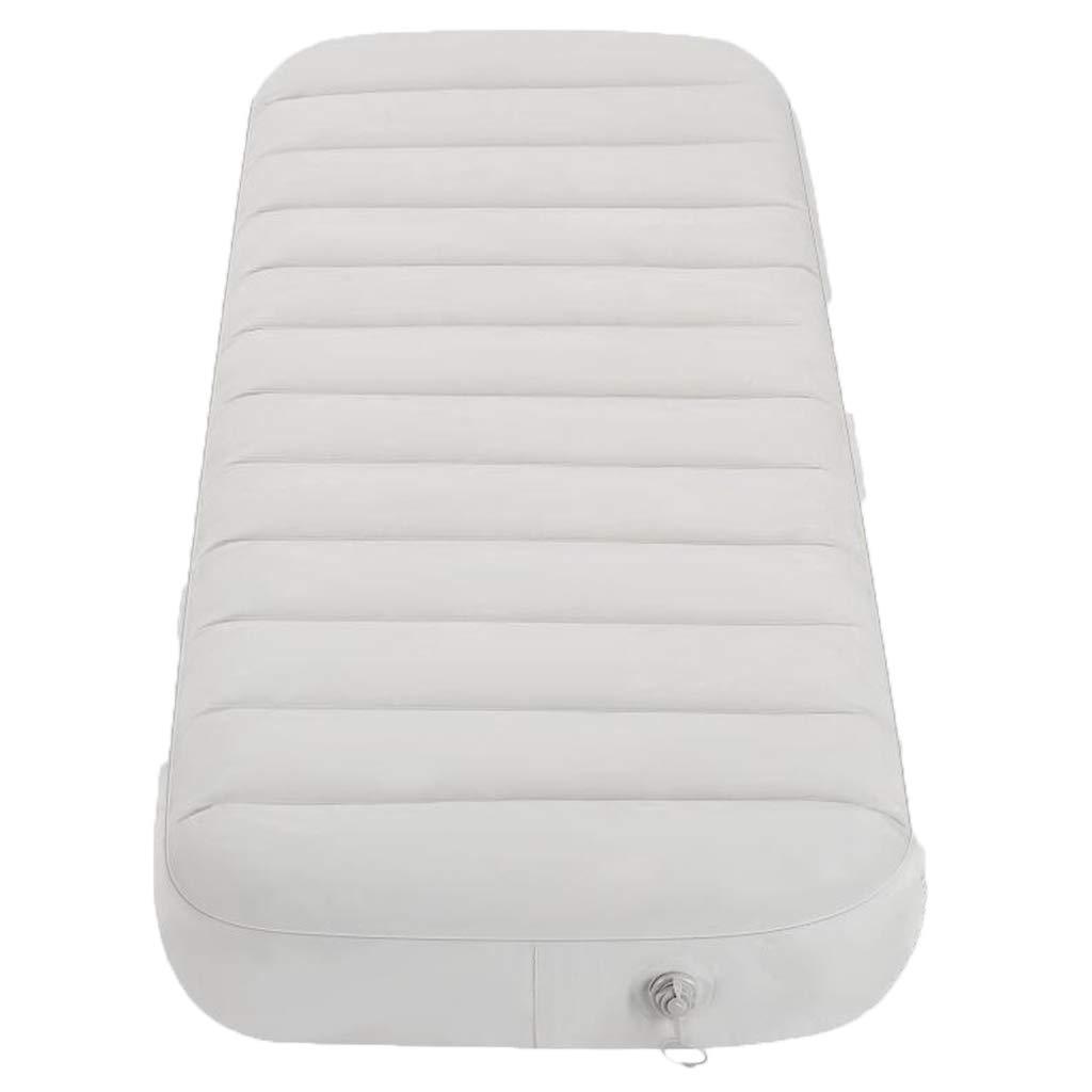 LYLLB-Air bed AußEnluftbett Automatische Aufblasbare Kissen Feuchtigkeit Pad Einzelne Isomatte Horizontale Streifen NäHte Design Weiß 191 X 73 cm