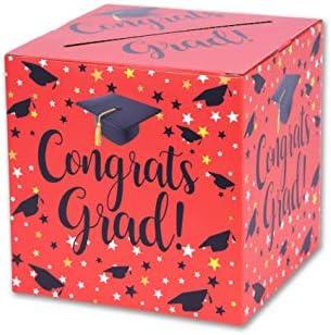 Graduation Box ? Graduation Card Box Graduation Party Decoration ? 1 Set(RED)