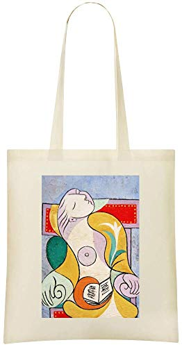 Friendly Handbag Printed Picasso Custom Custom Le Lecture Grocery Tote Shoulder Stylish Le Lecture For Use Cotton Everyday Bag Soft Peinture Bags 100 Picasso Eco amp; Painting gWqH80a